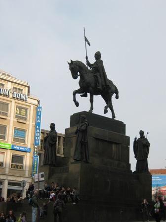 Прага. Памятник св. Вацлаву