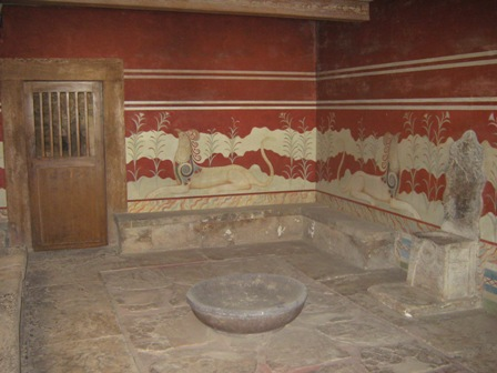 Кносский дворец. Царский трон