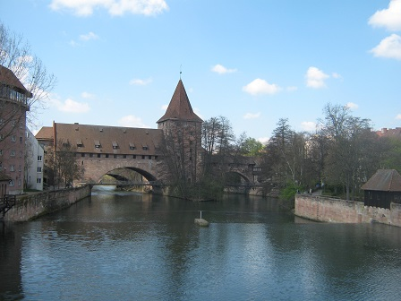 Нюрнберг. Висячий мост Кеттенштег