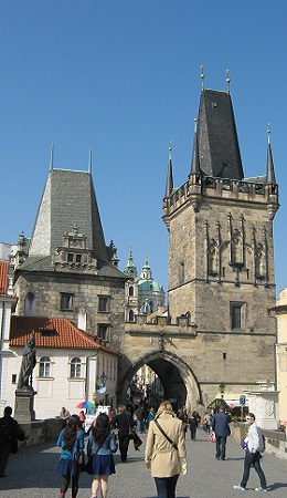 Прага. Малостранские мостовые башни